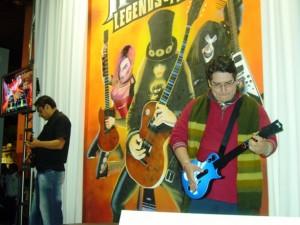 Jugando Guitar Hero