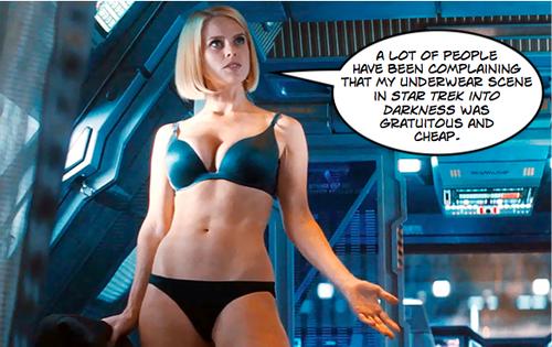La escena más famosa de Star Trek con Alice Eve