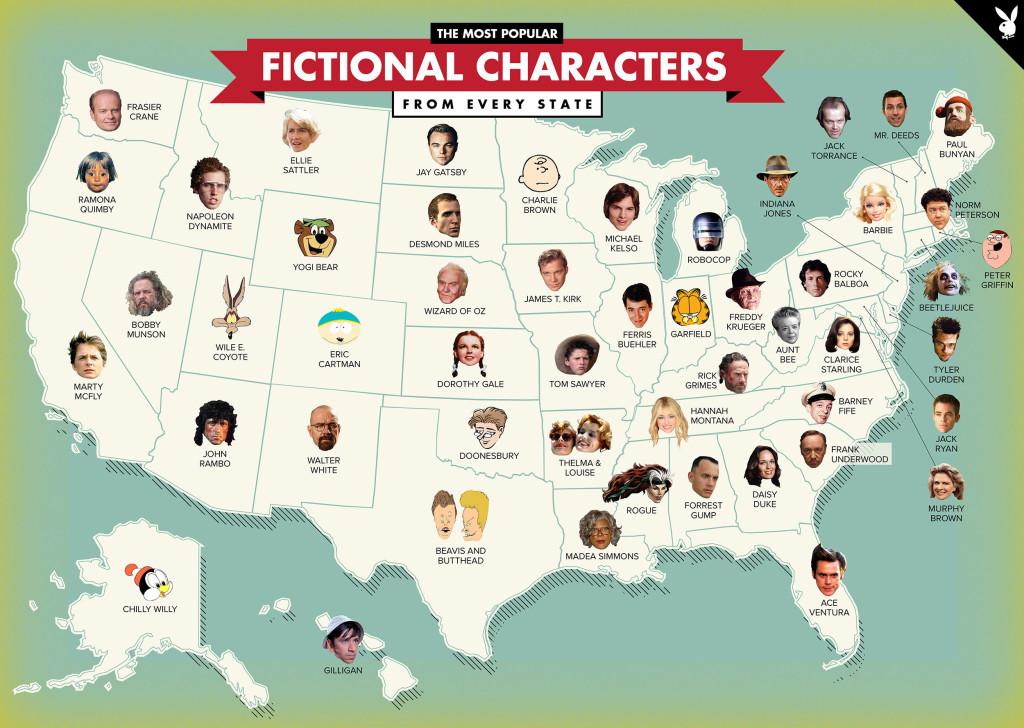 FictionalCharactersByState
